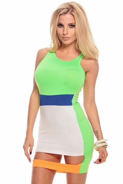 sexy dress,sexy bodycon dress,sexy party dress,sleeveless bodycon dress,color block dress