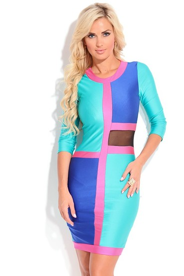 sexy dress,sexy bodycon dress,sexy party dress,color block dress