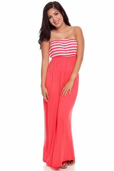 strapless maxi dress,long maxi dress,sexy maxi dress
