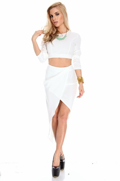 sexy dress,sexy dresses for party,white party dress,two piece dress