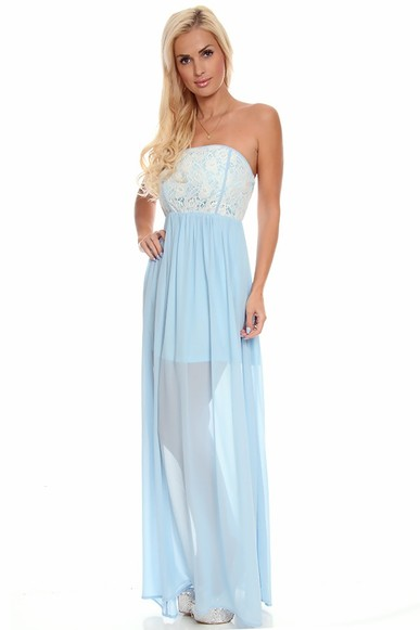 lace maxi dress,strapless maxi dress