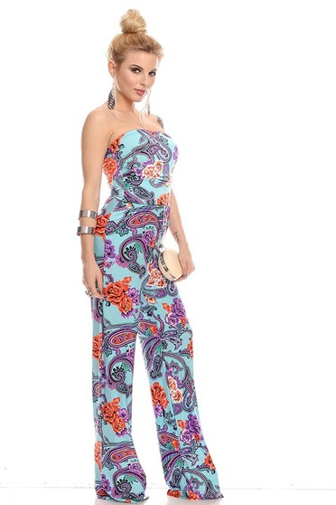 strapless jumpsuit,sexy jumpsuit,wide leg jumpsuit