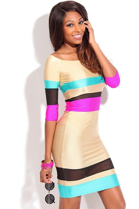 color block dress,sexy midi dress,sexy party dress,sexy body con dress