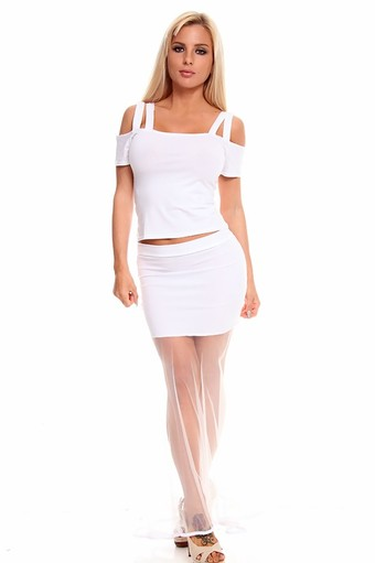 two piece dress,sexy party dresses,white party dress