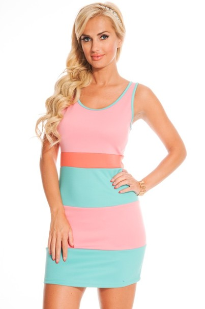 sexy dress,sleeveless dress,sexy bodycon dress,sexy party dress,color block dress