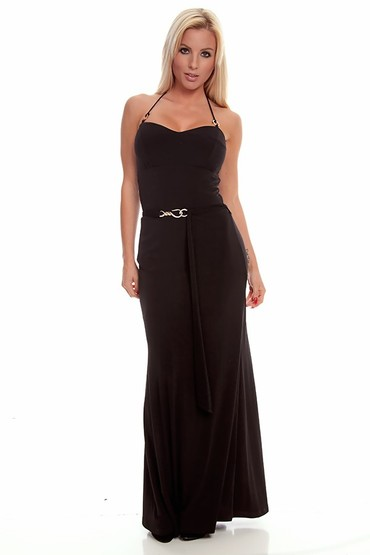 long maxi dress,black maxi dress