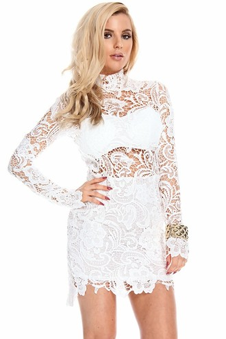 sexy dress,white party dress,white lace dress,sexy party dress