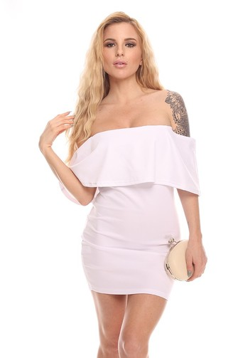 sexy dress,sexy white dress,white party dress