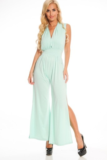 sleeveless jumpsuit,sexy jumpsuit,long jumpsuit,wide leg jumpsuit,sleeveless jumpsuit