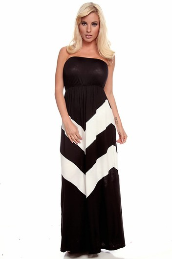 long maxi dress,black and white maxi dress